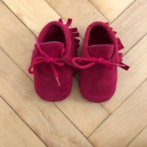 Other - Red tie Moccasins